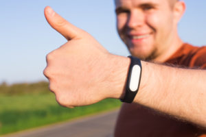 Man wearing activity tracker for sleep apnea in Clinton Township